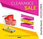 clearance sale banner for shop. ... | Shutterstock .eps vector #421512904