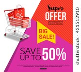 big sale banner template for... | Shutterstock .eps vector #421512910