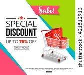 special discount template for... | Shutterstock .eps vector #421512913