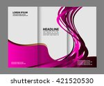 template for advertising... | Shutterstock .eps vector #421520530