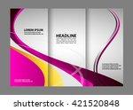 brochure folder leaflet... | Shutterstock .eps vector #421520848