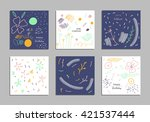 trendy creative hand drawn... | Shutterstock .eps vector #421537444