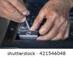 old letterpress | Shutterstock . vector #421546048