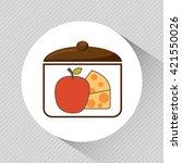nutritive food design  | Shutterstock .eps vector #421550026