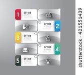modern infographics design... | Shutterstock .eps vector #421551439