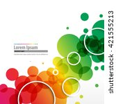 overlapping colorful circles...   Shutterstock .eps vector #421555213