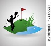 golf design. sport icon.... | Shutterstock .eps vector #421577284