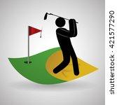 golf design. sport icon.... | Shutterstock .eps vector #421577290