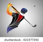 golf player   Shutterstock .eps vector #421577350
