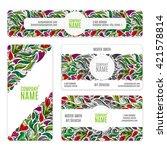corporate identity  templates...   Shutterstock . vector #421578814