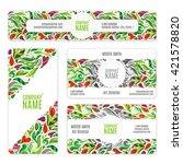 corporate identity  templates...   Shutterstock . vector #421578820