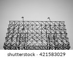 black and white color of steel... | Shutterstock . vector #421583029