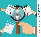 human resources design. people... | Shutterstock .eps vector #421587676