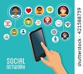 social media design. gadget... | Shutterstock .eps vector #421588759