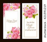 romantic invitation. wedding ...   Shutterstock . vector #421591219