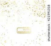 gold confetti | Shutterstock .eps vector #421591318