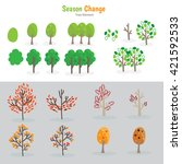 tree drawing for kids   Shutterstock .eps vector #421592533