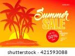 summer sale template banner | Shutterstock .eps vector #421593088