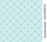 green seamless dots pattern | Shutterstock .eps vector #421596574
