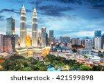 kuala lumpur  malaysia skyline.   Shutterstock . vector #421599898