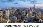 new york city at night ... | Shutterstock . vector #421599910