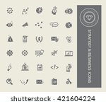 strategy and business icon set... | Shutterstock .eps vector #421604224