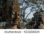 ancient temple in cambodia | Shutterstock . vector #421606024