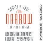 narrow sanserif font and... | Shutterstock .eps vector #421622530