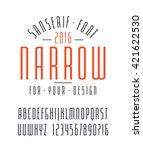 narrow sanserif font and... | Shutterstock .eps vector #421622530