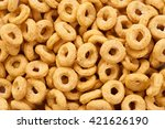 Corn Rings Close Up. Cereals.