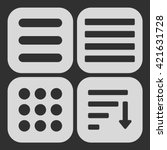 hamburger menu icons set.... | Shutterstock .eps vector #421631728