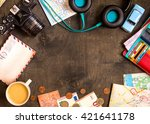 camera  touristic maps ... | Shutterstock . vector #421641178