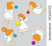 set of cute angels  vector... | Shutterstock .eps vector #42164122