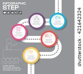 design infographic template 5... | Shutterstock .eps vector #421642324