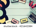 top view image of cassette ... | Shutterstock . vector #421642384