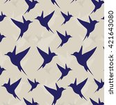 swallow modern pattern. | Shutterstock . vector #421643080