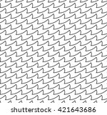 sharp waves | Shutterstock . vector #421643686