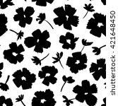hand drawn flowers   seamless...   Shutterstock .eps vector #421648450