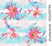 tropical exotic contemporary... | Shutterstock . vector #421650754