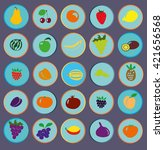 icons of fruit | Shutterstock .eps vector #421656568