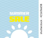 summer sale. | Shutterstock .eps vector #421656658