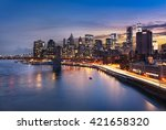 new york city   beautiful... | Shutterstock . vector #421658320