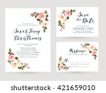 wedding invitation card suite... | Shutterstock .eps vector #421659010