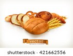 bread  food vector illustration | Shutterstock .eps vector #421662556