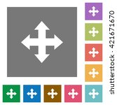 move flat icon set on color...