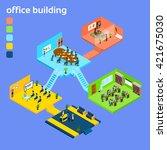 office building interior... | Shutterstock .eps vector #421675030