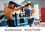 sport men.training sparing | Shutterstock . vector #421675240