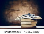 Open Book And Stethoscope Place