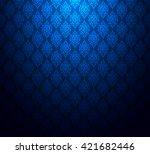 Elegant Blue Background Patter...