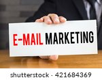email marketing  message on... | Shutterstock . vector #421684369